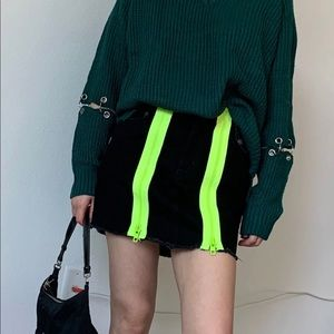 LF seek the label sweater hardware cut out M